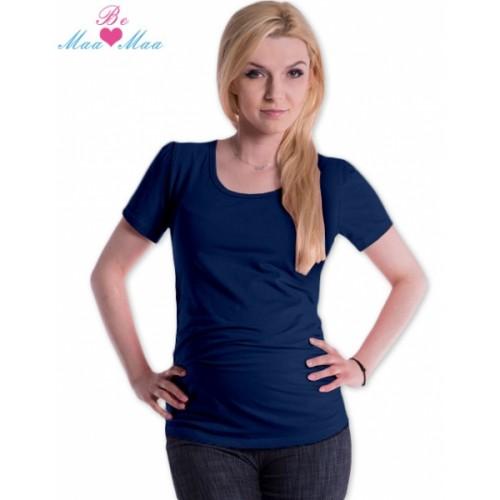 Be MaaMaa Tričko JOLY bavlna nielen pre tehotné - navy jeans - S/M