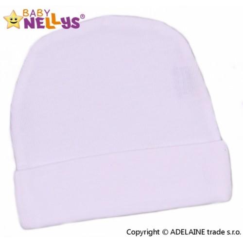 Baby Nellys Novorodenecká čiapočka - biela - 56 (1-2m)