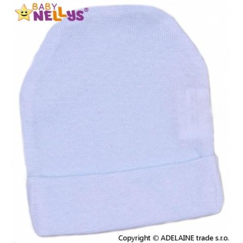Baby Nellys Novorodenecká čiapočka - sv. modrá - 56 (1-2m)