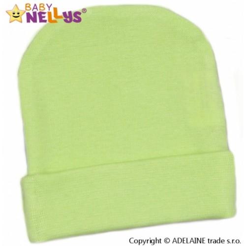 Baby Nellys Novorodenecká čiapočka - zelená - 56 (1-2m)