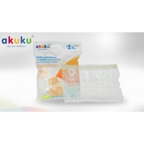Akuku Sieťkované nohavičky M, 2ks v balení - M (38)