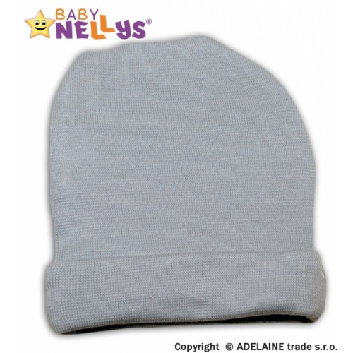 Baby Nellys Novorodenecká čiapočka - šedá - 56 (1-2m)