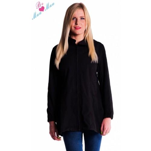 Be MaaMaa Tehotenská softshellová bunda, kabátik - čierna - XL (42)