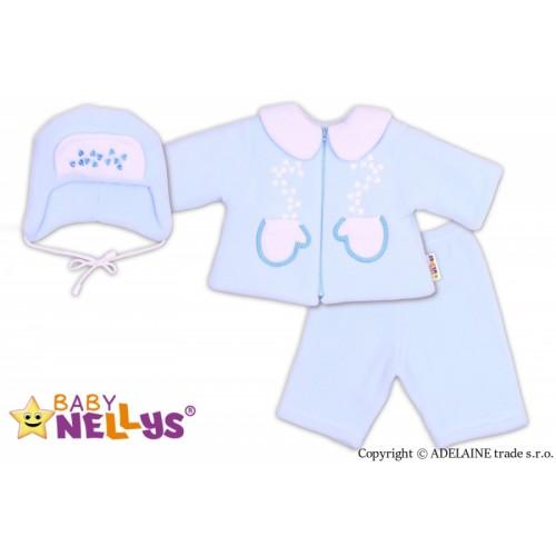 Kabátik, čiapočka a nohavice Baby Nellys ®- sv. modrá - 68 (4-6m)