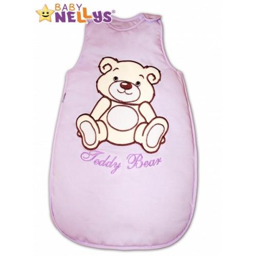 Spací vak Medvedík Teddy Baby Nellys - lila vel. 0+