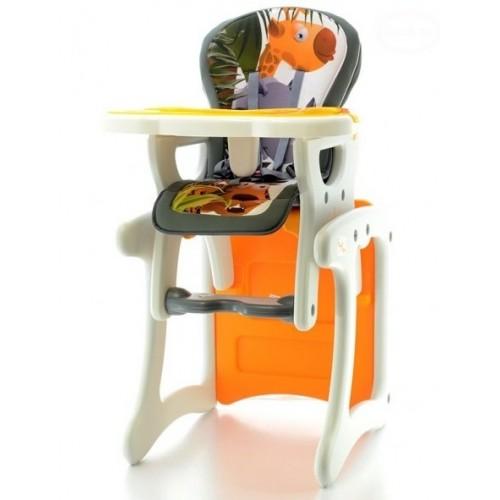 Euro Baby Jedálenský stolček 2v1 - Žirafa oranžová