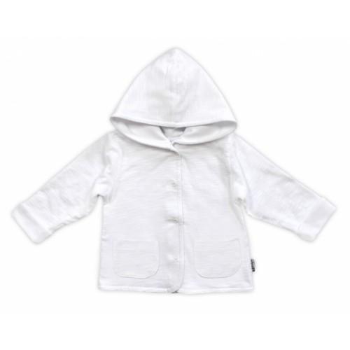Bundička / kabátik NICOL ELEGANT BABY BOY, vel. 80, biela - 80 (9-12m)
