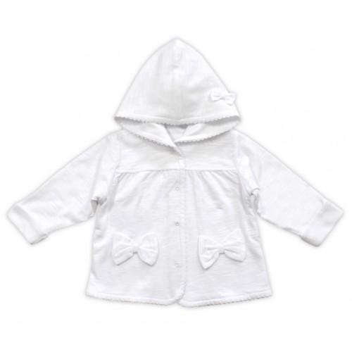 Bundička / kabátik NICOL ELEGANT BABY GIRL, vel. 98, biely - 98 (24-36m)