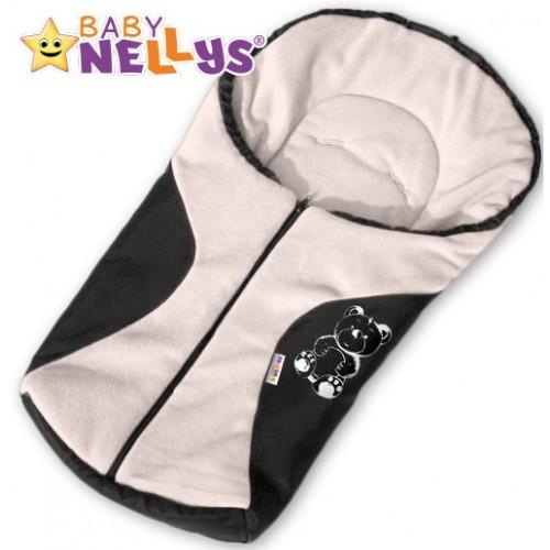 Fusak nielen do autosedačky Baby Nellys ® POLAR - smotanový medvedík