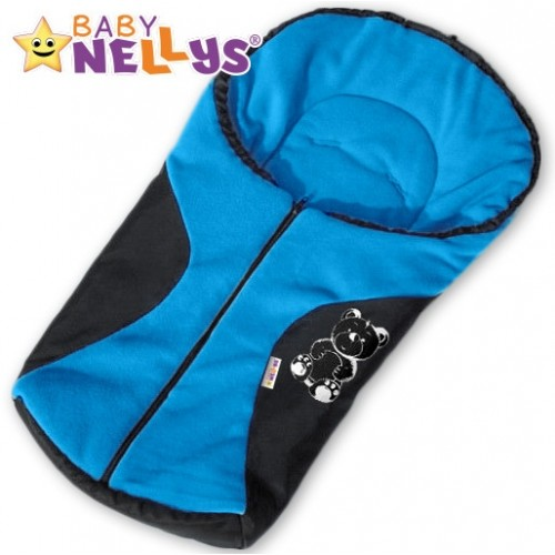 Fusak nielen do autosedačky Baby Nellys ® POLAR - modrý medvedík
