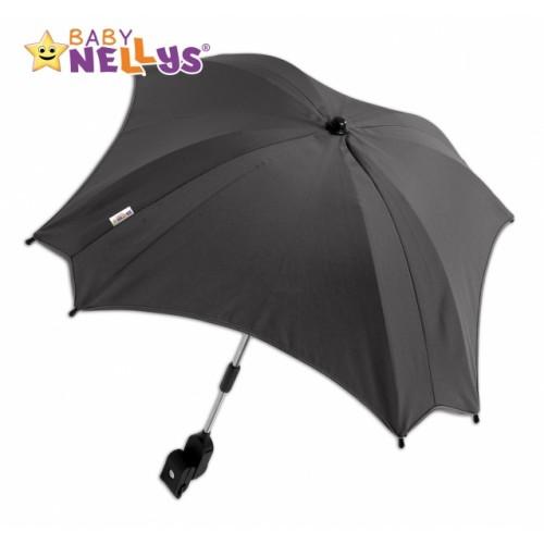 Slnečník, dáždnik do kočíka Baby Nellys ® - sivý / grafit