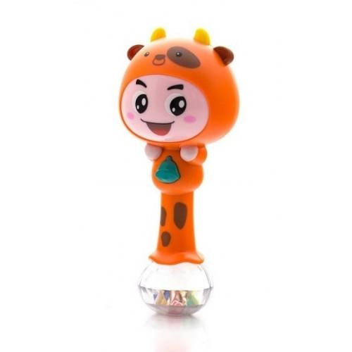 Euro Baby Edukačná hračka - hrkálka s melódiou - ZODIAC - oranžový