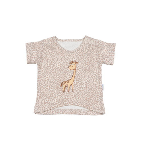 Mamatti Blúzka / tričko kr. rukáv - žirafka - 74 (6-9m)