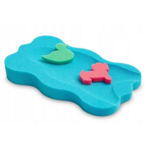 BADO Matračku - huba na kúpanie bábätiek MINI - Modrá/zelená