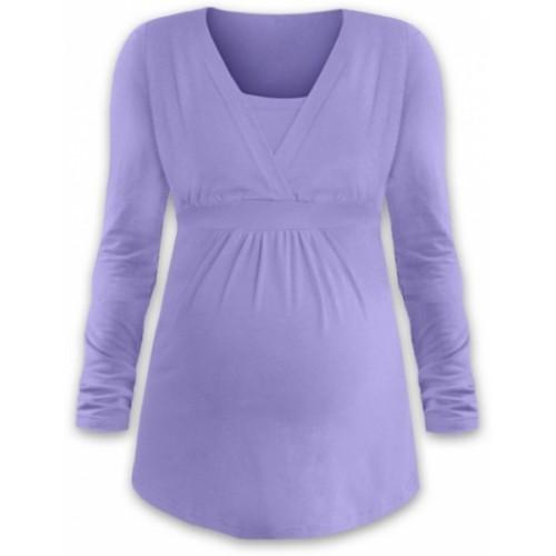 JOŽÁNEK Dojčiace aj tehotenská tunika ANIČKA s dlhým rukávom - orgovánová - L/XL
