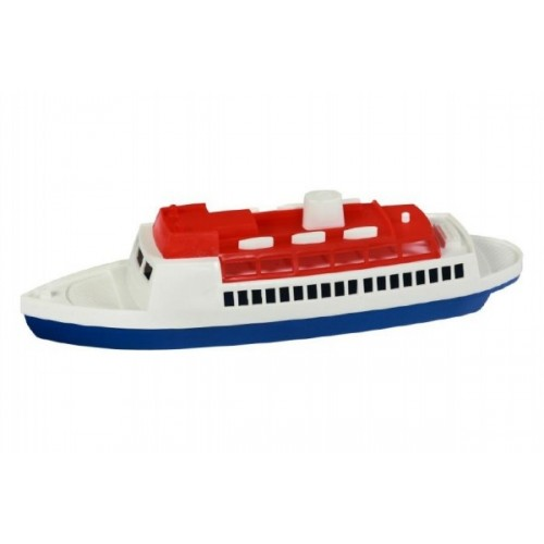 Teddies Loď / Čln - Parník oceánsky plast 26cm