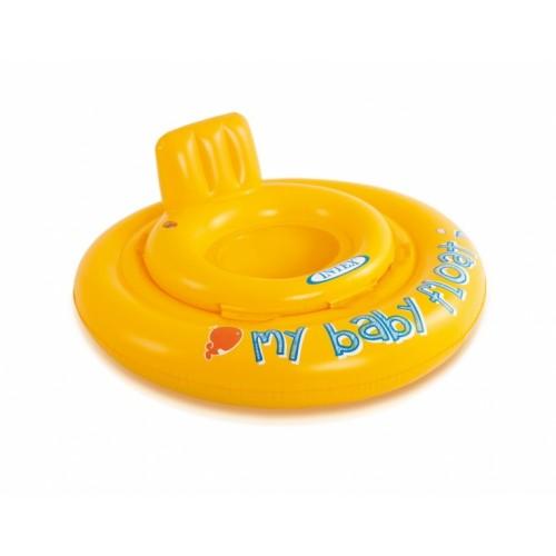 Intex Nafukovacie plavátko žlté, okrúhle, 70 cm
