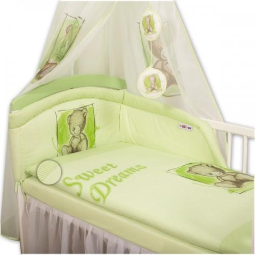 Baby Nellys Obliečky Sweet Dreams by Teddy - zelený - 120x90