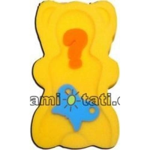BADO Matračku - huba na kúpanie bábätiek MAXI - Žltá, béžová