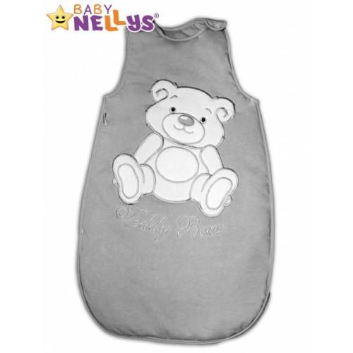 Spací vak Medvedík Teddy Baby Nellys - šedá veľ. 1