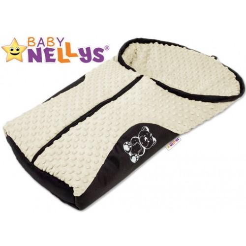 Fusak nielen do autosedačky Baby Nellys ® MINKY - smotanový