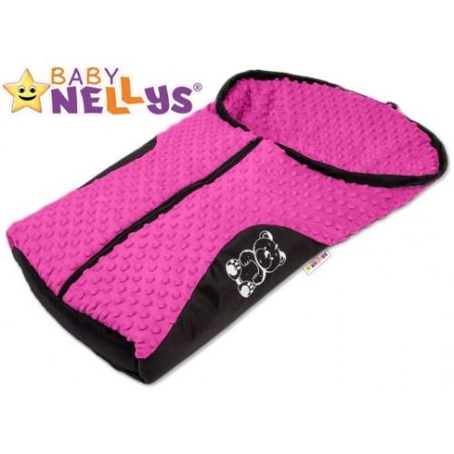 Fusak nielen do autosedačky Baby Nellys ® MINKY - růžový, amarant