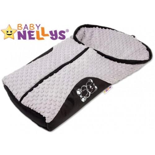 Fusak nielen do autosedačky Baby Nellys ® MINKY - sivý
