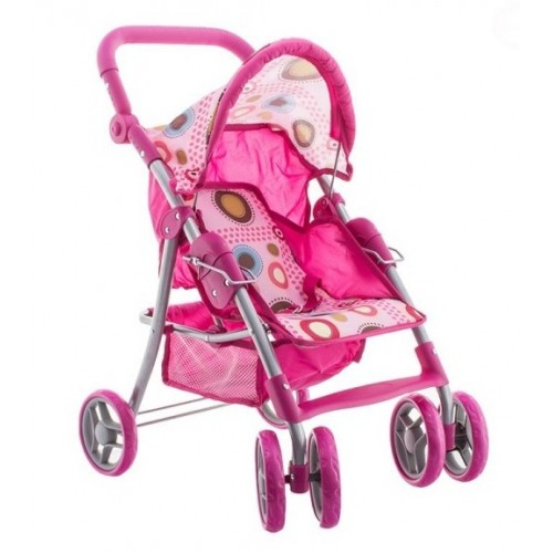 Euro Baby Športový kočík pre bábiky - ružový
