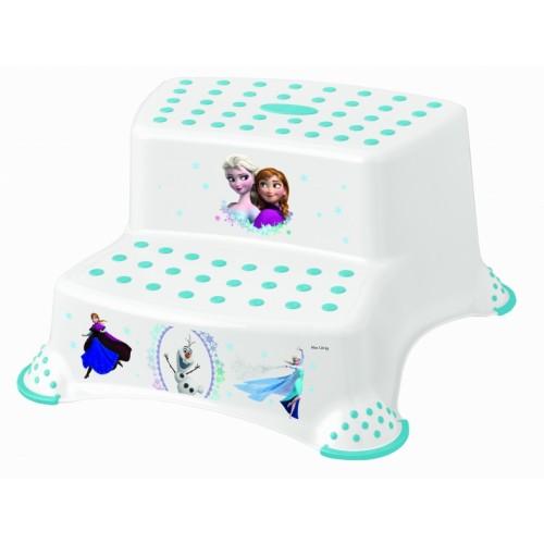 Keeeper Stolička - schodíky s protišmykovou funkciou - Frozen - biela