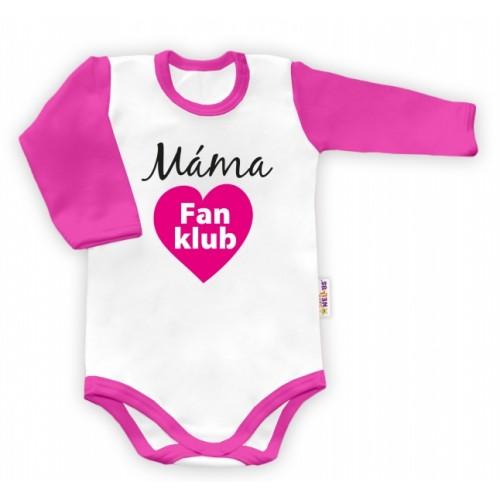Baby Nellys Body dlhý rukáv vel. 74,  Máma Fan klub - 74 (6-9m)