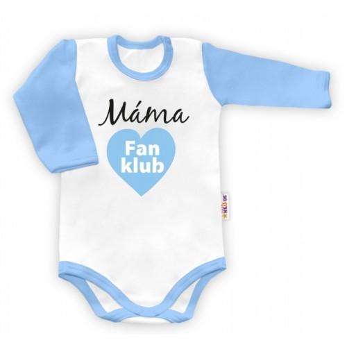Baby Nellys Body dlhý rukáv Máma Fan klub - 48/52