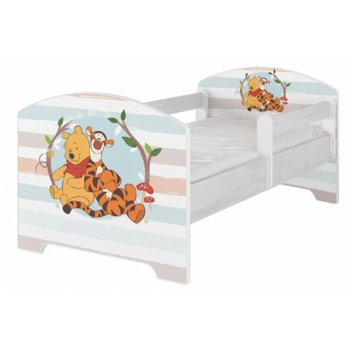 BabyBoo Detská postel Disney - Medvídek PÚ proužek, D19 - 160x80