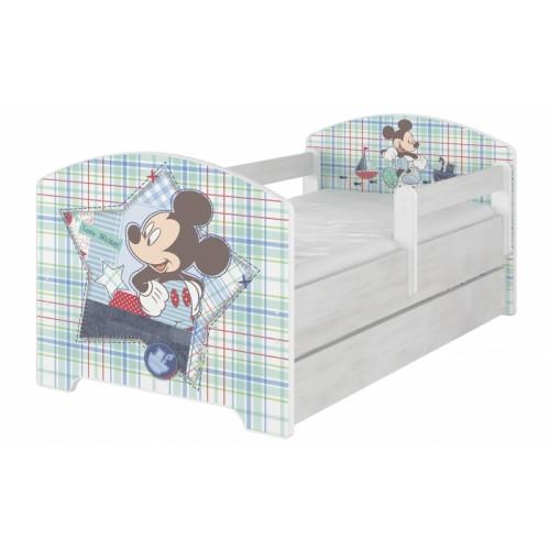 BabyBoo Detská postel Disney s šuplíkom - Mickey Mouse, D19 - 140x70