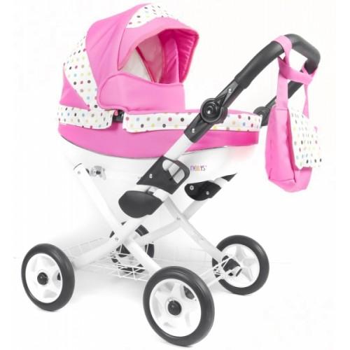 NESTOR Kočík pre bábiky - ružový
