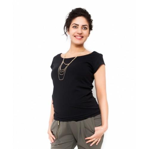 Be MaaMaa Tehotenské tričko/blúzka Celina - čierná - L (40)