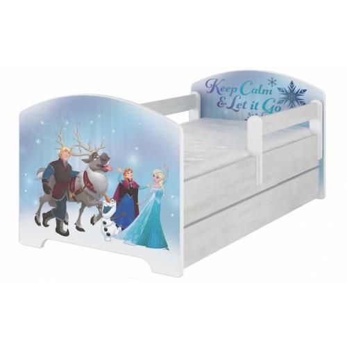 BabyBoo Detská postel Disney s šuplíkom - Frozen, D19 - 160x80