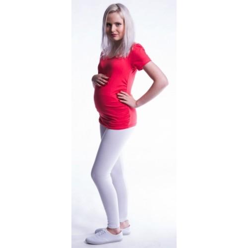 Be MaaMaa Tehotenské legíny - biele, K19 - XL (42)