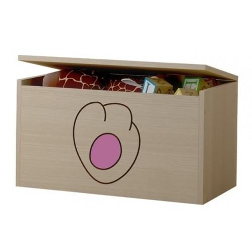 BabyBoo Box na hračky, truhlička Mačičikova tlapka růžová