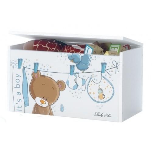 BabyBoo Box na hračky, truhlička Macko Úško, D19