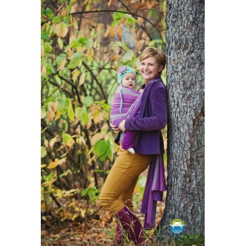 Little FROG Tkaný šatka na nosenie detí -  AMETHYST - XL (42)