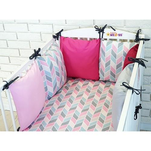 Baby Nellys Mantinel BE LOVE RETRO vankúšikový s obliečkami vzor č. 1 - 135x100