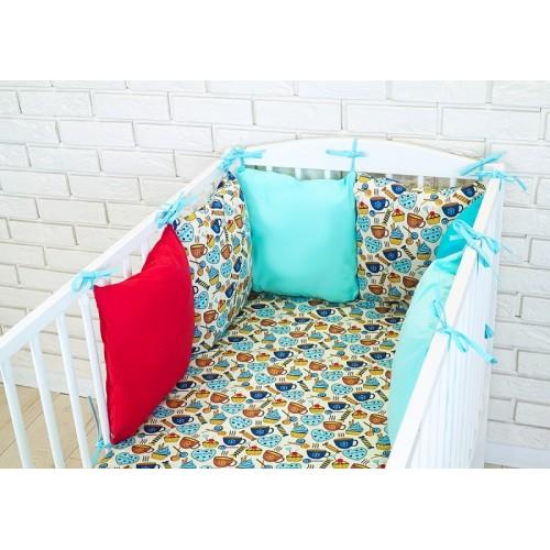 Baby Nellys Mantinel BE LOVE RETRO vankúšikový s obliečkami vzor č. 9 - 135x100