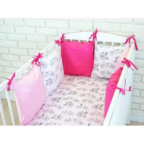 Baby Nellys Mantinel BE LOVE RETRO vankúšikový s obliečkami vzor č. 10 - 135x100