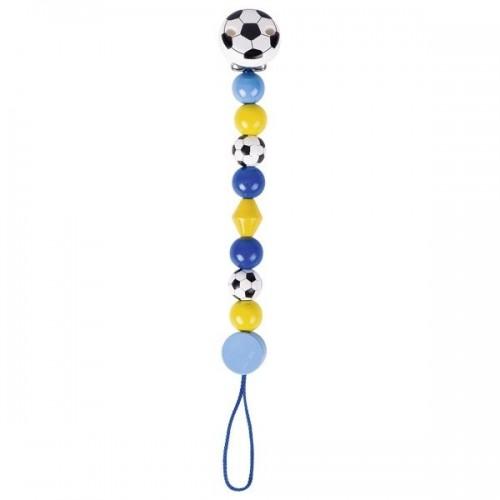 Goki Drevená retiazka na cumlík 17 cm - Futbalová lopta