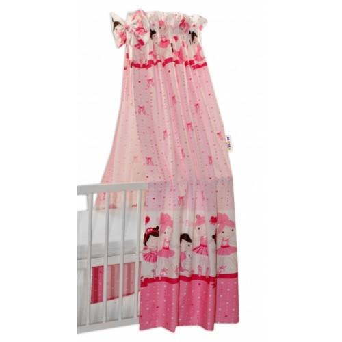 Nebesa z celej látky Princess Baby Nellys - růžová