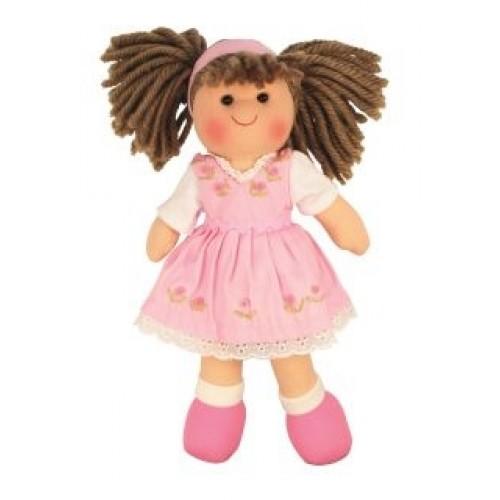 Bigjigs Látková bábika EVELÍNA, 27cm