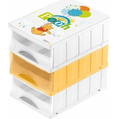 Keeeper Boxy na hračky - zásuvky Medvedík Pú