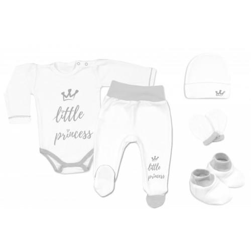Baby Nellys Súpravička do pôrodnice Princess - biela - 56 (1-2m)