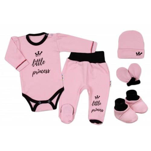 Baby Nellys Súpravička do pôrodnice Princess - ružová - 62 (2-3m)