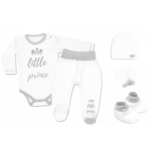 Baby Nellys Súpravička do pôrodnice Prince - biely - 56 (1-2m)